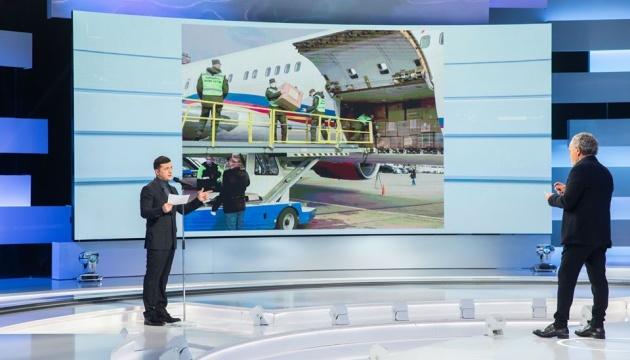 В Украину еженедельно пять самолетов доставляют медсредства из-за рубежа - Президент