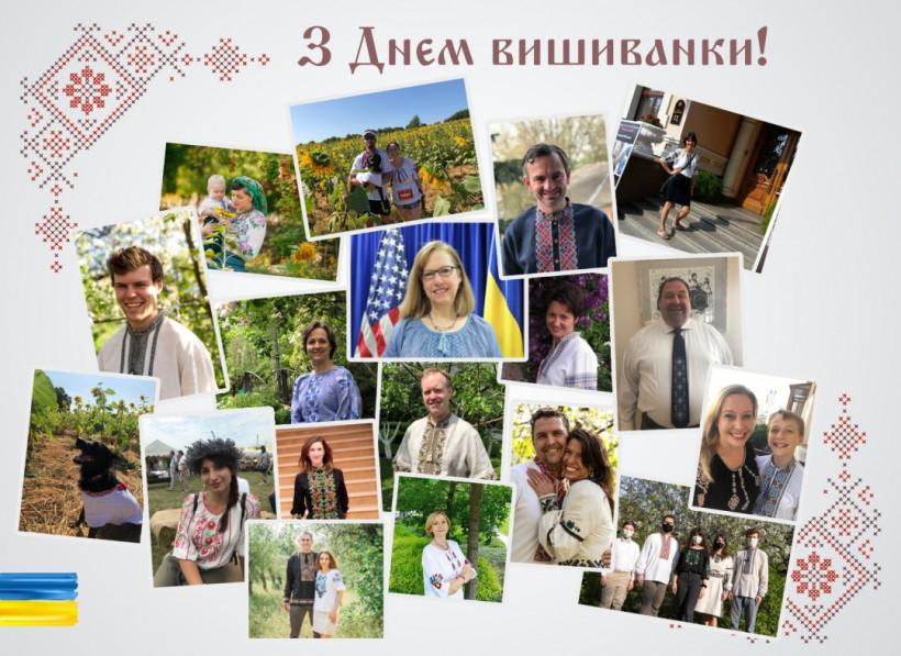 Работники Посольства США нарядились в вышиванки
