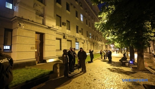 Активисты устроили световое шоу в поддержку Стерненко