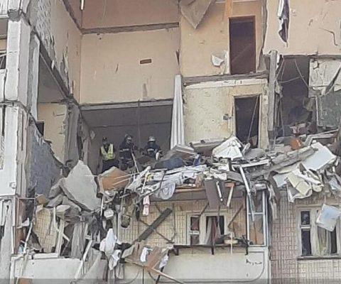 Взрыв в многоэтажке Киева.