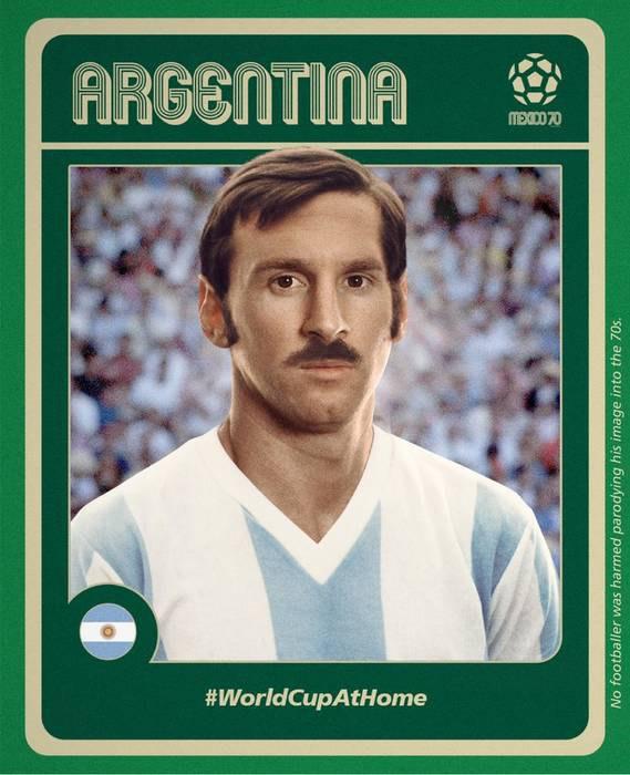 ФИФА представила имидж Месси, Мбаппе и Неймар в далеких 70-х (фото)