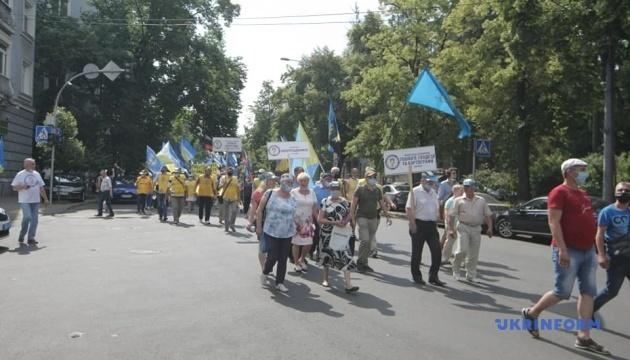В центре Киева протестуют профсоюзы