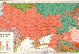 Этнографическая карта Украины 1949 года