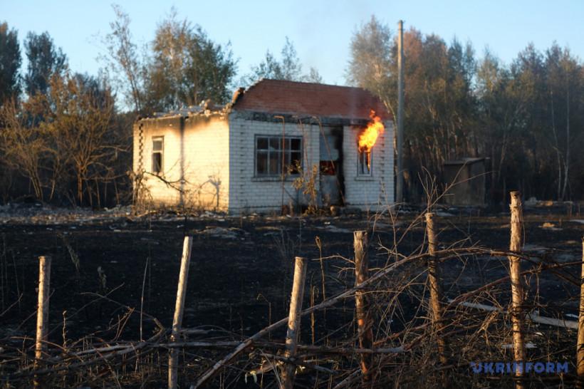 """Луганщина в огне, розовое озеро и """"дымовой флаг"""""""