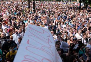 Массовые протесты в Хабаровске.