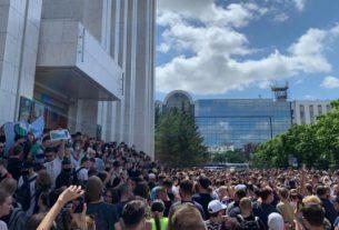 Массовые волнения в Хабаровске.