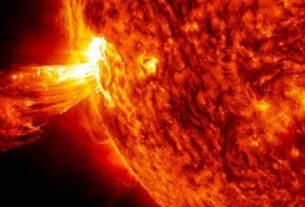 Вспышки на Солнце.