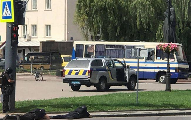 Автобус с заложниками в Луцке
