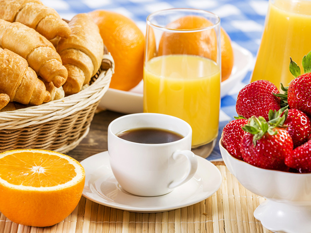 Сок и кофе