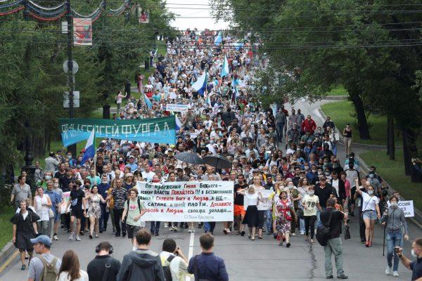 Протесты в Хабаровске не прекращаются.