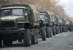 Военная техника РФ следует на Донбасс.