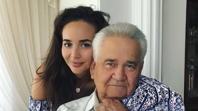 Маша Фокина с дедушкой Витольдом Фокиным