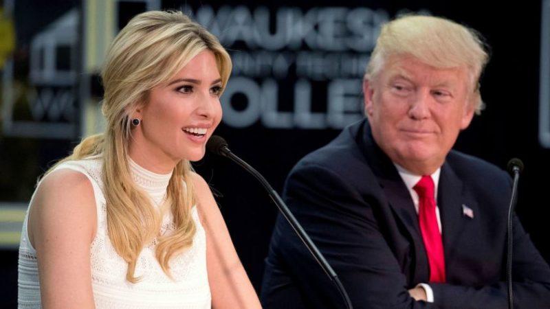 Дональд Трамп и его дочь