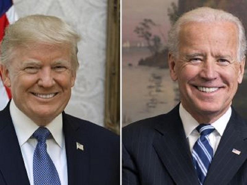 Дональд Трамп и Джозеф Байден, кто победит.