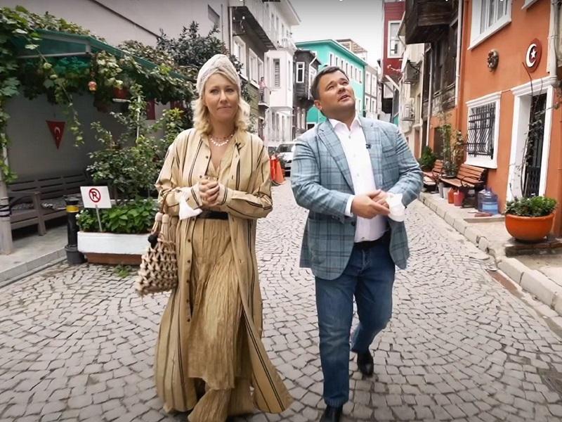 Андрей Богдан и Ксения Собчак.
