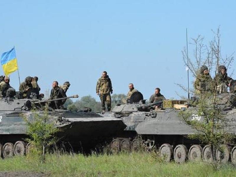 Укрепление позиций ВСУ под Донецком.