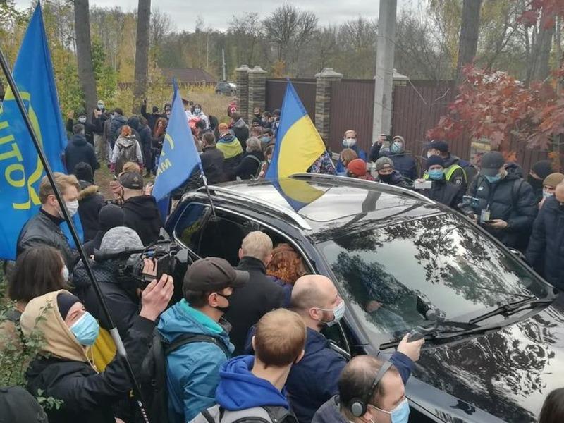 Протест под домом Тупицкого