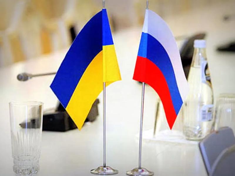 Флаг Украины и РФ
