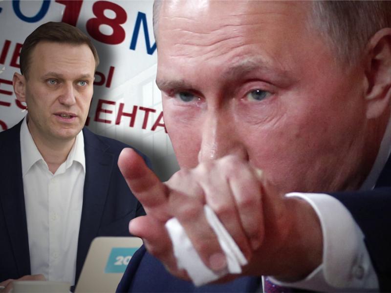 Путин проговорился об отравлении Навального.