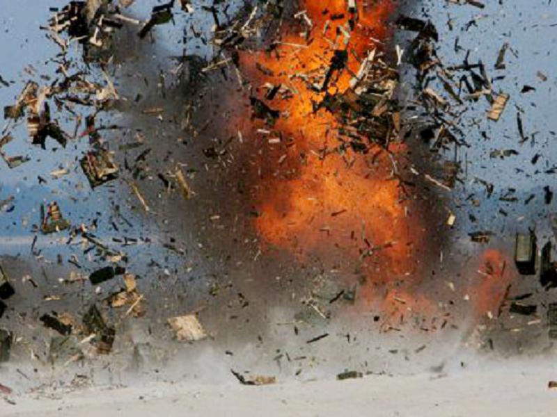 Взрыв в центре Луганска.