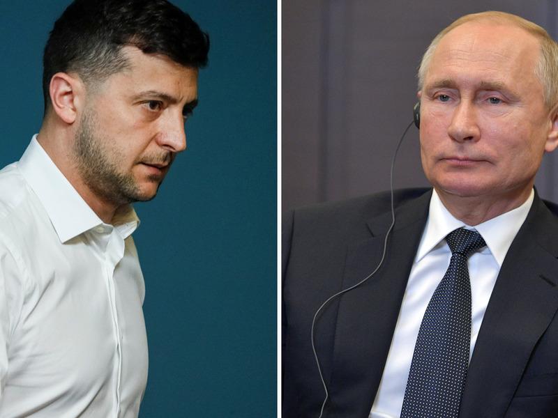 Владимир Зеленский и президент РФ
