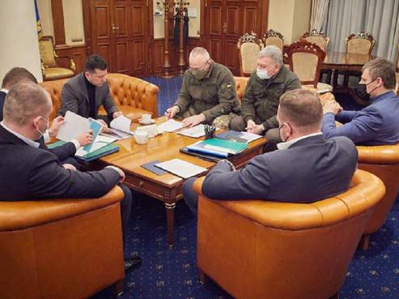 Экстренное совещание у Зеленского.