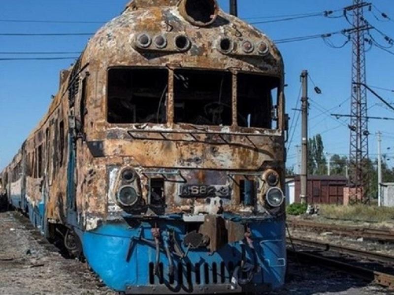"""Так выглядит перспектива """"международного"""" ж/д сообщения в Донецке."""