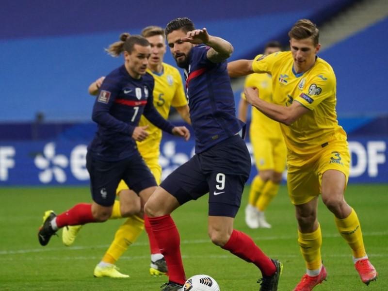 Матч сборных Франции и Украины