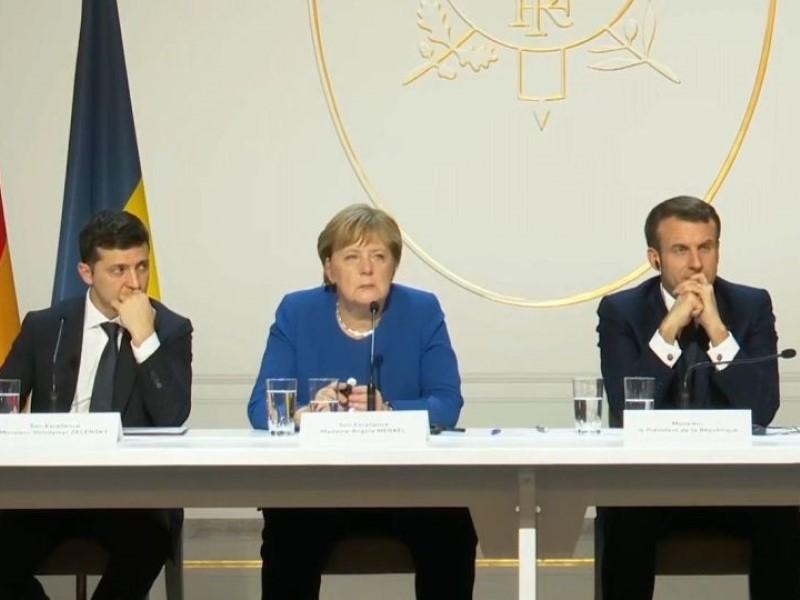 Зеленский, Меркель и Макрон