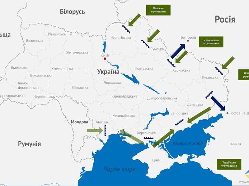 Предполагаемый захват Украины