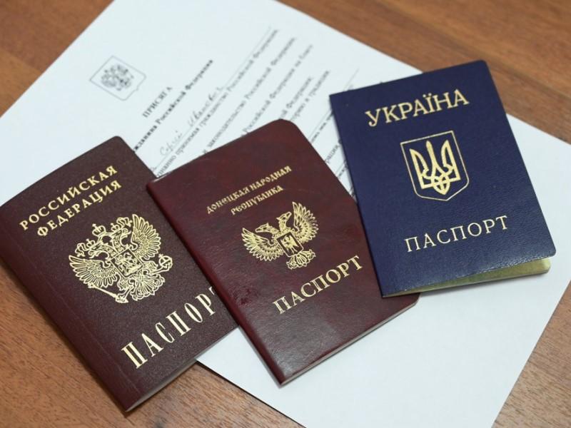 """Паспорта РФ, """"ДНР"""" и Украины"""