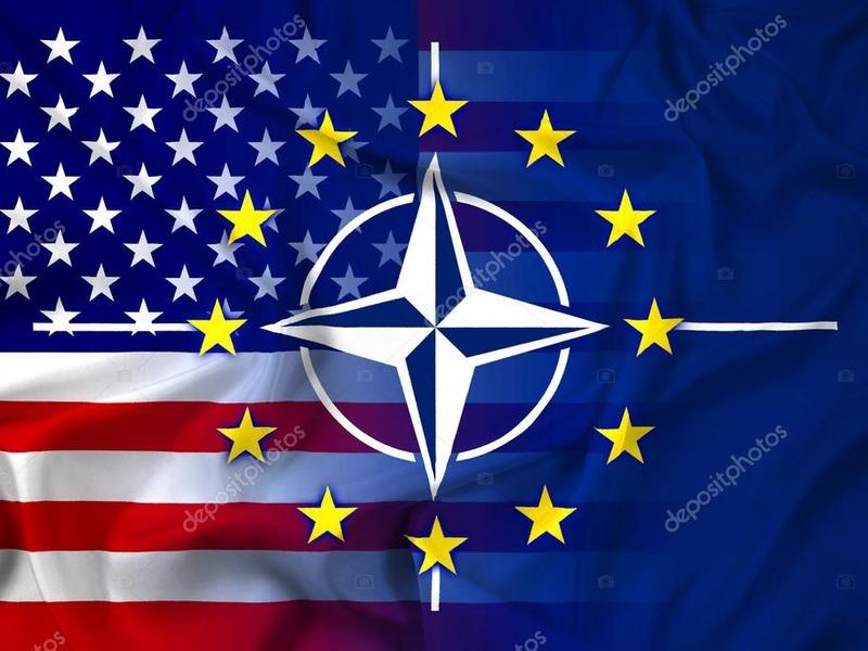 Флаг США и НАТО