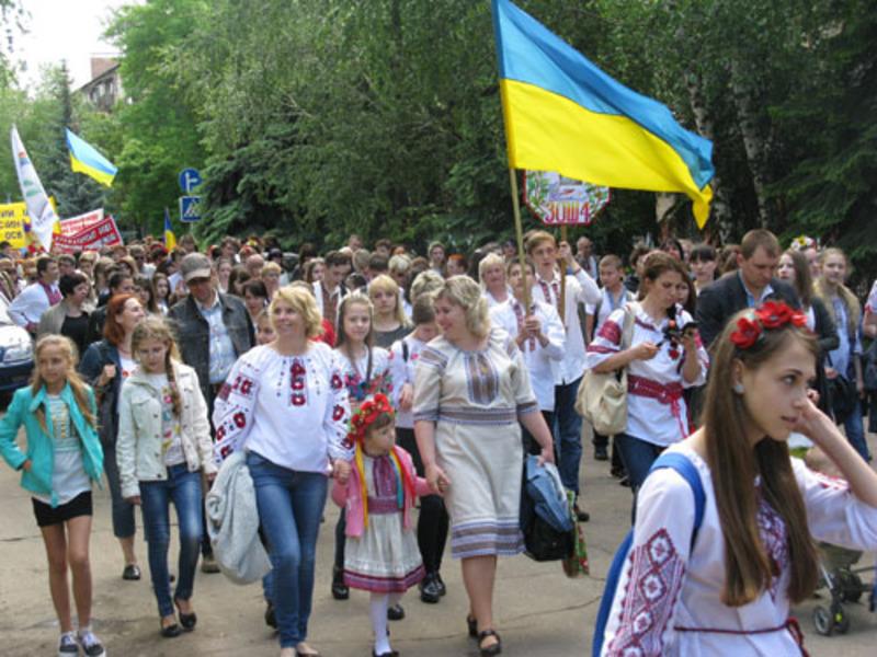 Парад в Краматорске