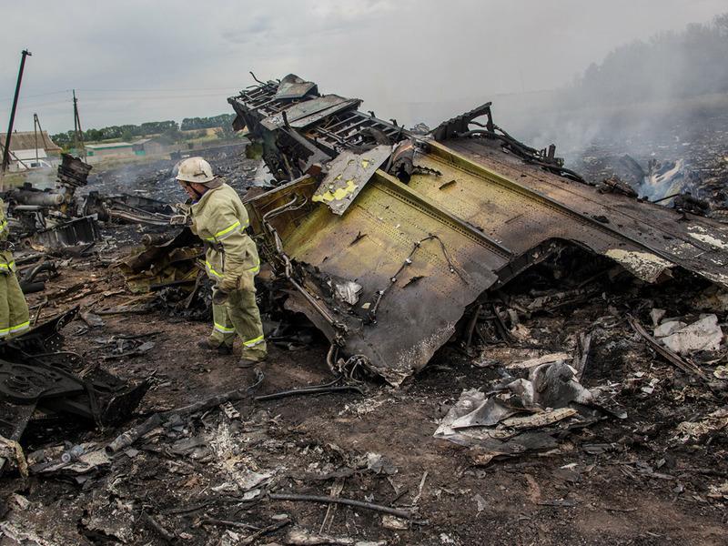 Крушение лайнера над Донбассом