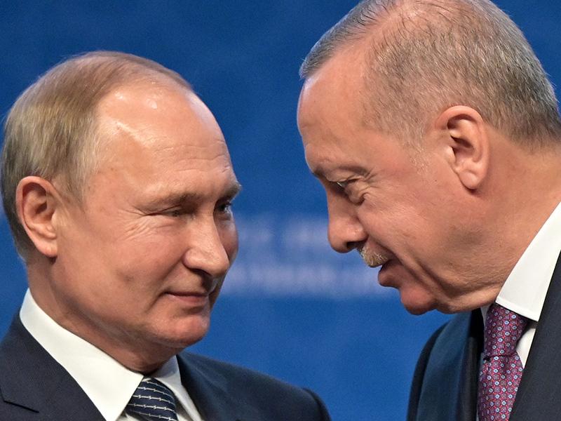 Переговоры Путина и Эрдогана