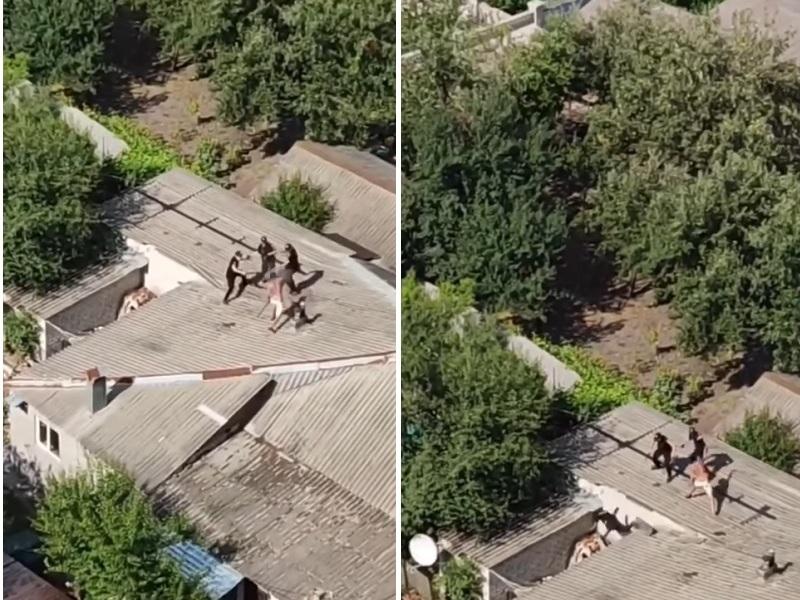 Драка на крыше с полицией