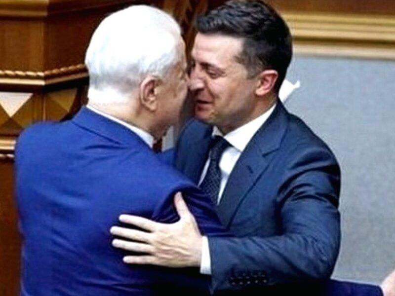 Леонид Кравчук и Владимир Зеленский