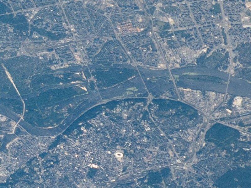 Фото Киева из космоса
