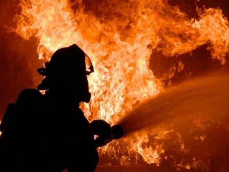 Масштабный пожар в Макеевке