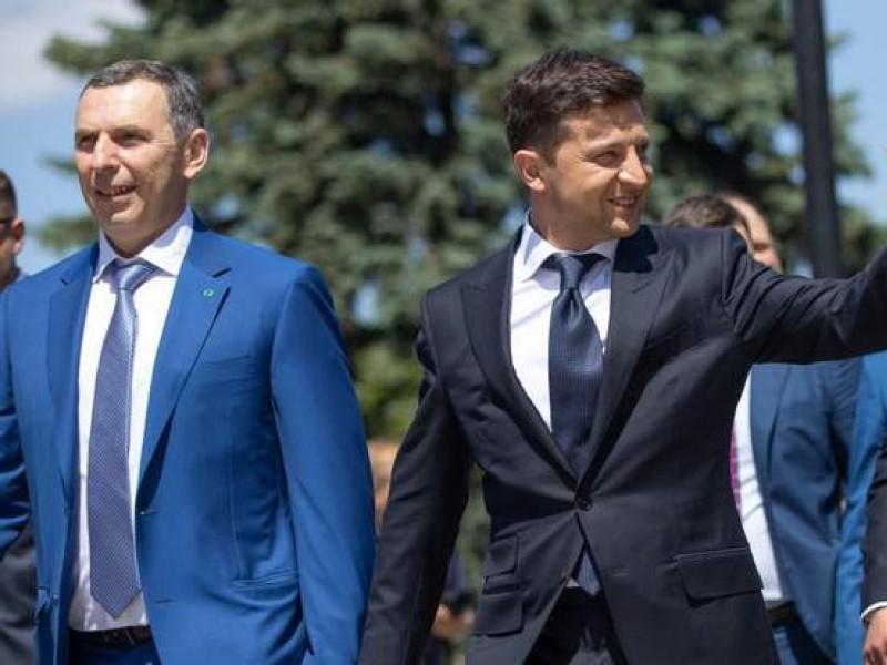 Президент Украины со своим первым помощником
