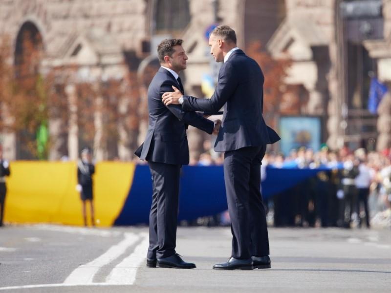 Президент Украины и бывший тренер сборной Украины по футболу