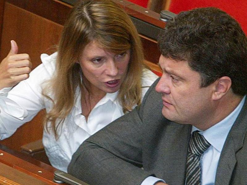 Юлия Тимошенко и Петр Порошенко