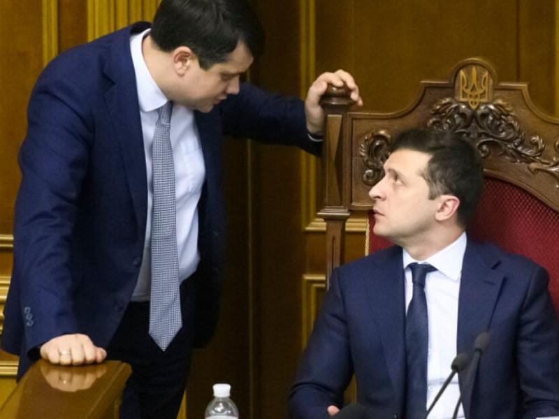 Спикер ВРУ и президент Украины