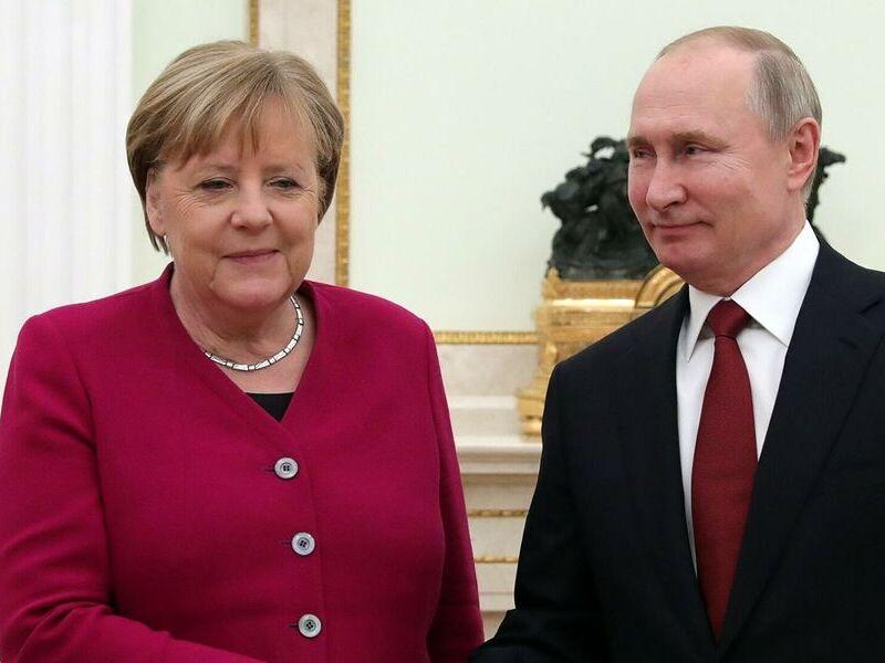 Канцлер Меркель и Путин