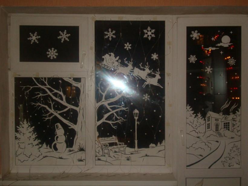 Украсим окна к празднику: Новогодние снежинки от Гарри Поттера и Дарта Вейдера (ФОТО)