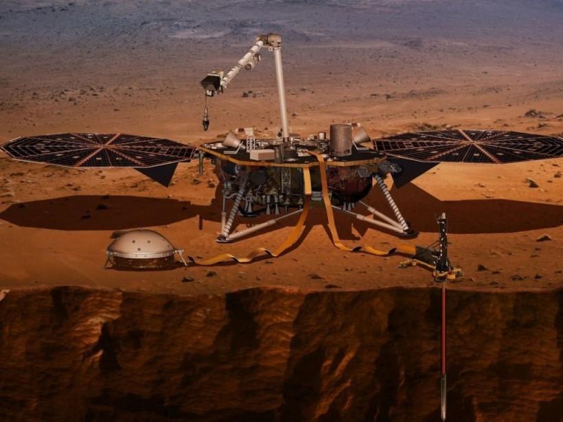 ПлатформадляглубинногоизучениягрунтаМарсаприбыланапланету(ФОТО)